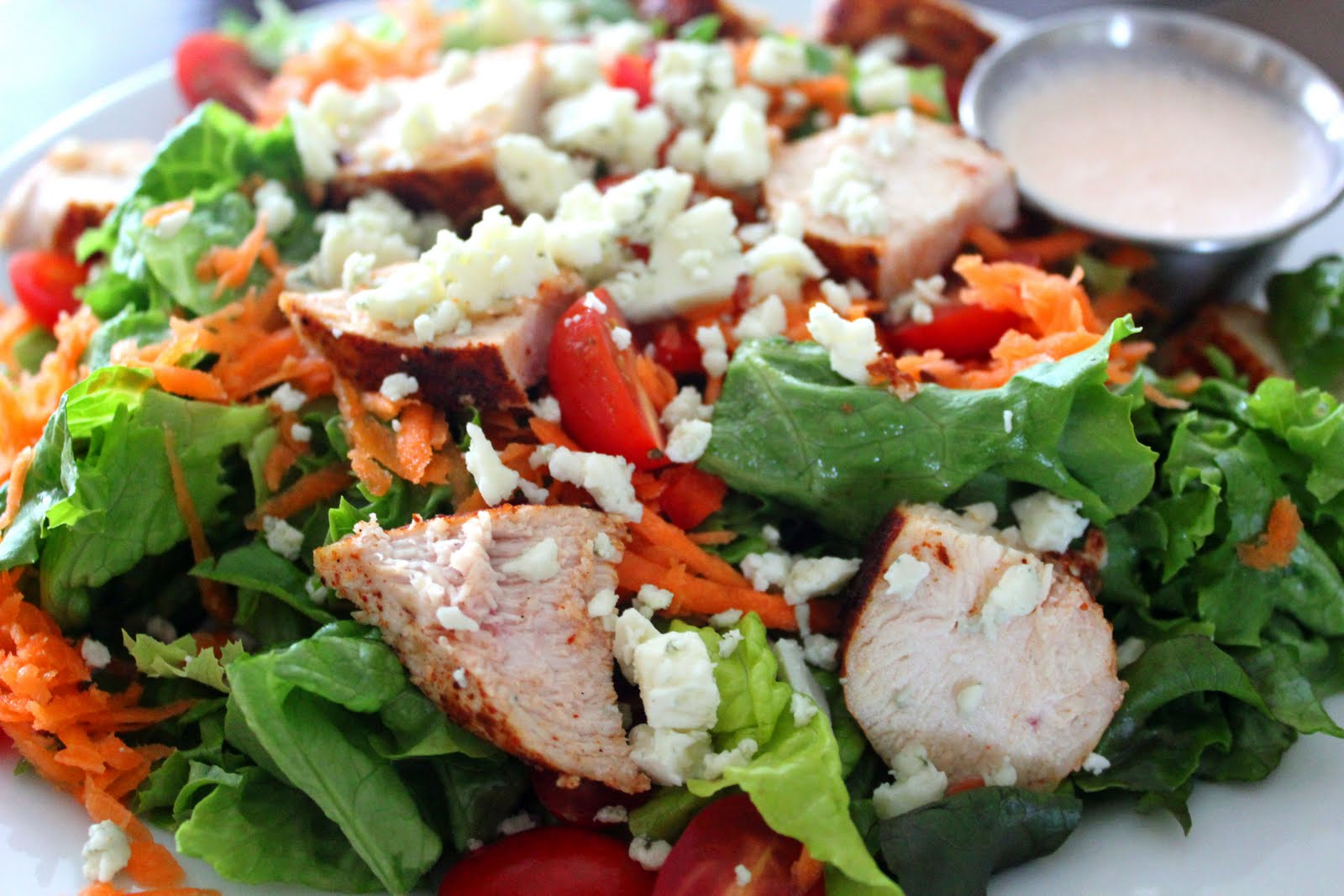 ... celery and crumbled blue cheese give this easy 15-minute chicken salad