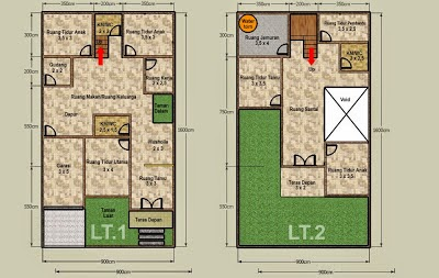 desain rumah minimalis 2 lantai luas tanah 150 m2 gambar