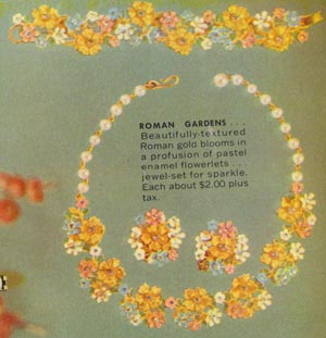 Vintage Roman Gardens Jewelry Set