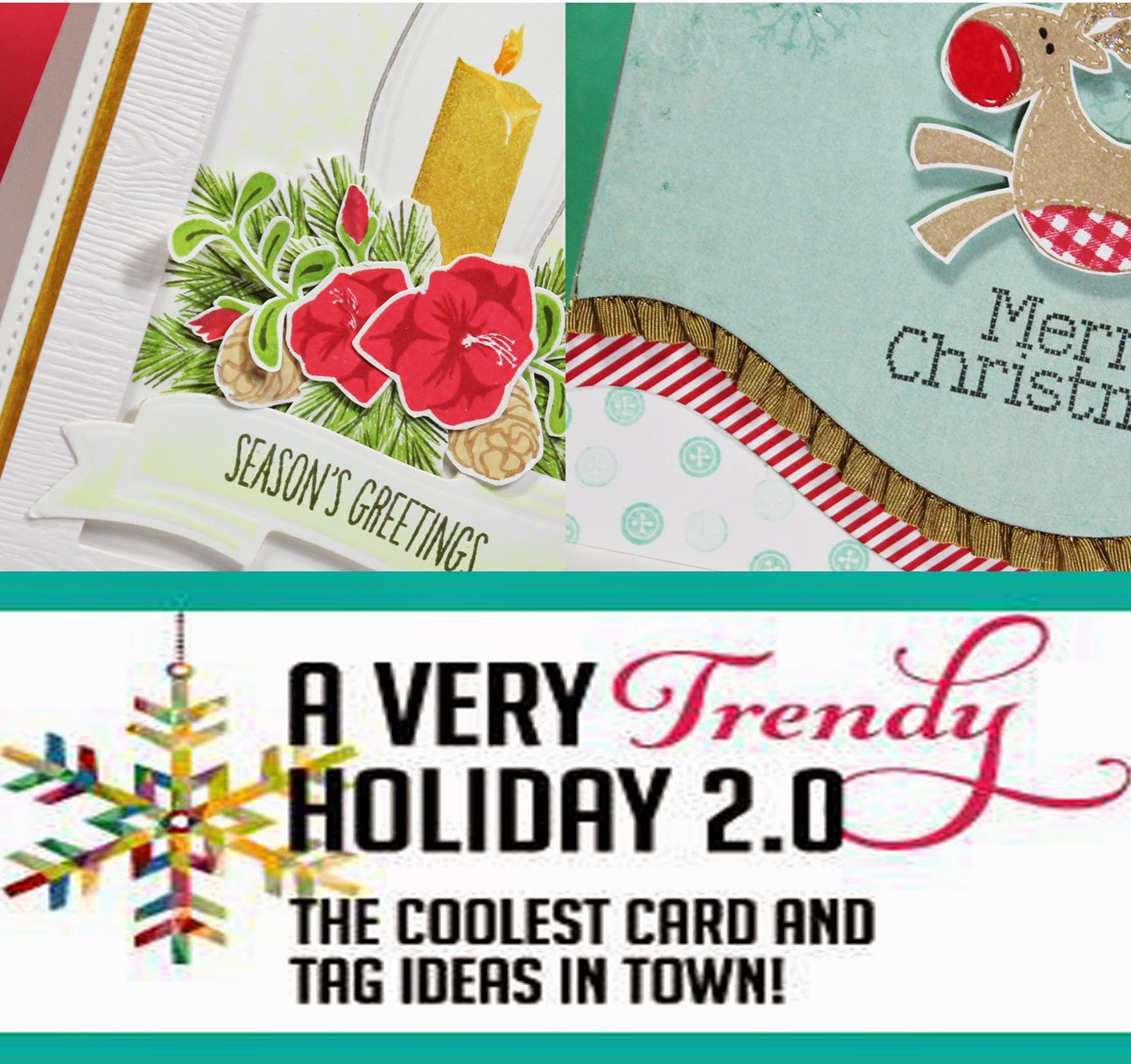 A Very Trendy Holiday 2.0 Card Class Examples by Allison Cope