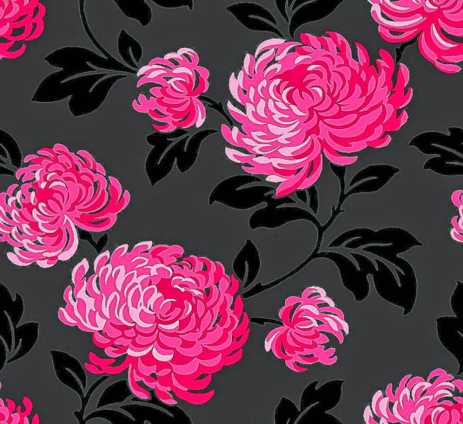 Pink And Black Floral Wallpaper Cool Hd Wallpapers