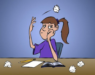 Frustrated Writer Cartoon