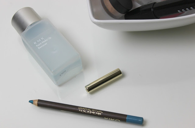 A picture of RMK Point Make Up Remover and KIKO Modern Tribes Graphic Ritual Kajal Eyeliner