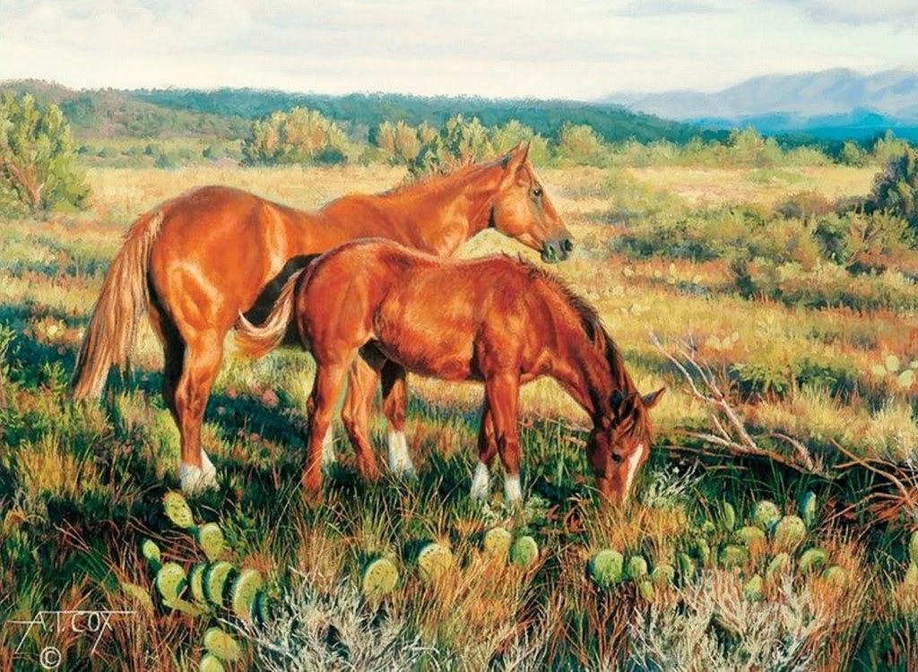 caballos-en-paisajes-realistas-del-campo
