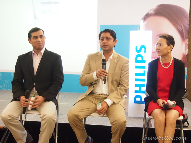 Q&A session at Philips AirFloss launch