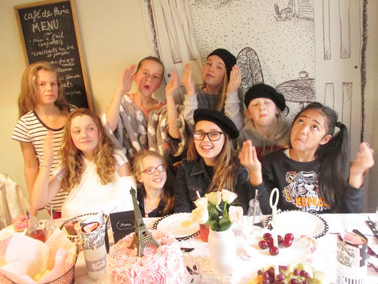 Paris Party crazy birthday girl and posse