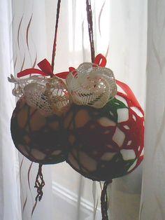 Bożonarodzeniowe zawieszki na okna