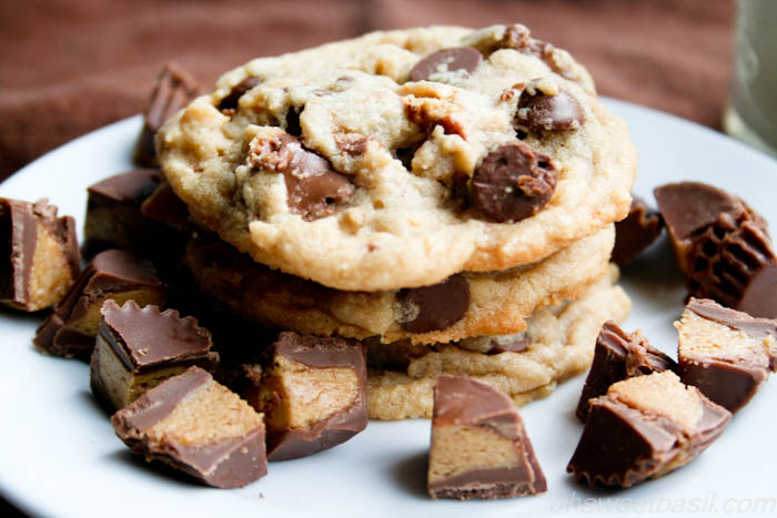 Reese's Peanut Butter Cup Peanut Butter Chocolate Chip Cookies