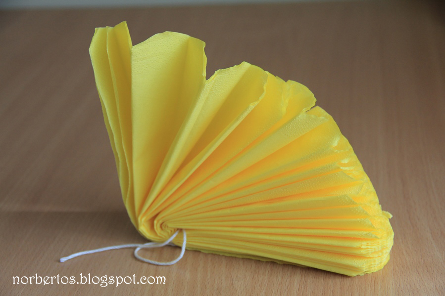 How to make tissue paper flower cut the edges