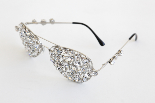 Crystal Aviator Glasses By Michael Schmidt