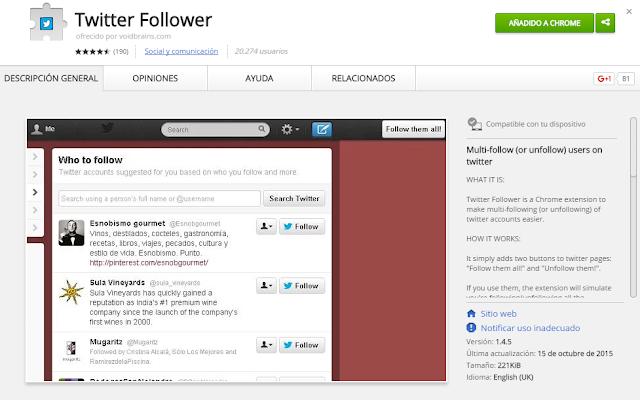 gana seguidores en twtter con bot extension