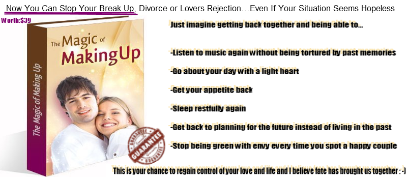 Now You Can Stop Your Break Up