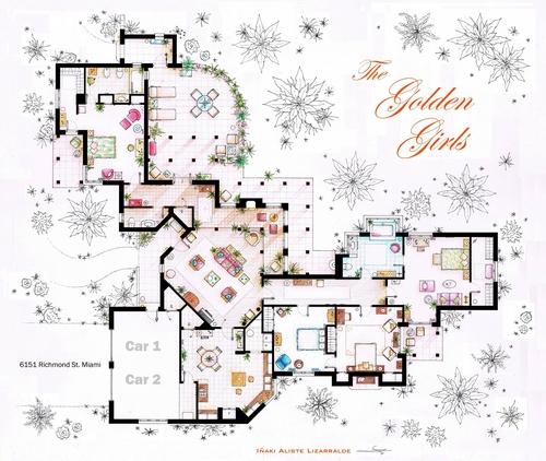 13-The-Golden-Girls-Blanche-Deveraux-Rose-Nylund-Dorothy-Sporznak-And-Sophia-Petrillo-Apartment-Floor-Plan-Inaki-Aliste-Lizarralde