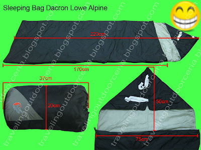 gambar sleeping bag dacron hollow fiberfill murah berkulitas detail