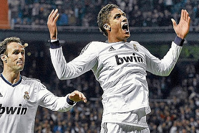 Varane celebrates his goal against Barcelona