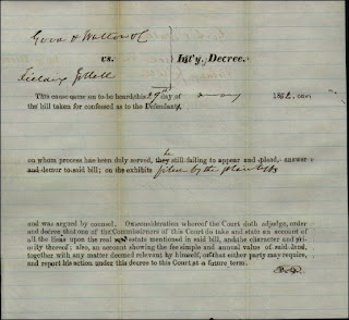 Decree Good and Walton vs Jollett 1860
