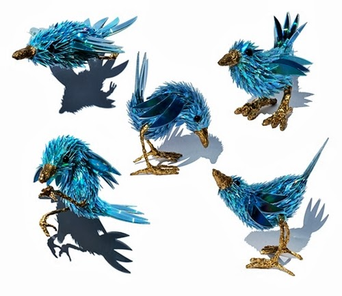 03-Blue-Wren-Recycled-DVD-Art-Multi-Discipline-Artist-Sean-Edward-Avery-Writer-Illustrator-Graphic-Designer-And-Sculptor-www-designstack-co