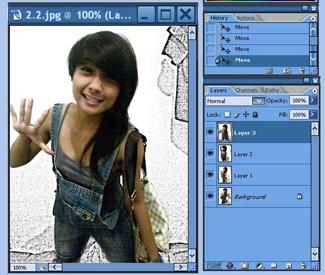 ... Adobe Photoshop dan klik pada icon paling bawah di tool palette sobat