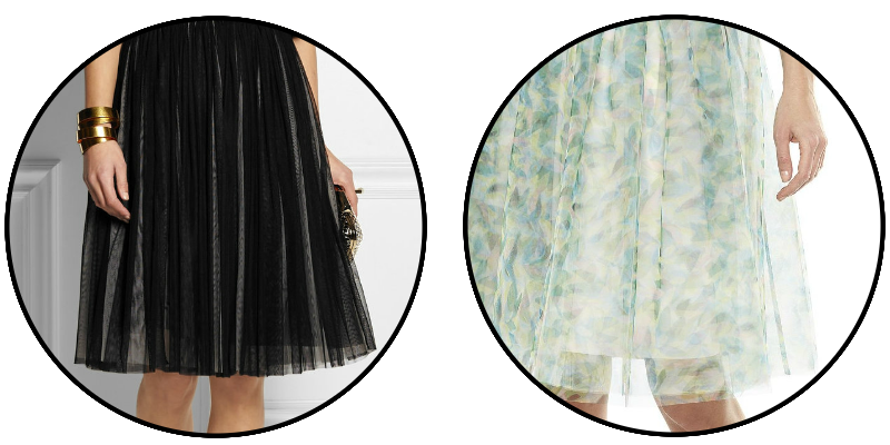 BLACK PRINT TULLE SKIRT