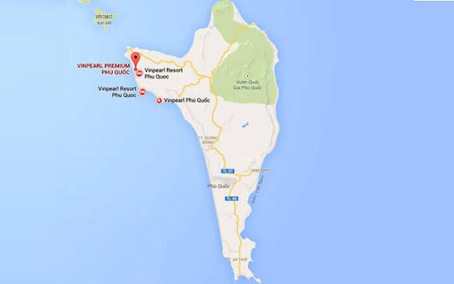 Vị trí biệt thự Vinpearl Phú Quốc giai đoạn 3