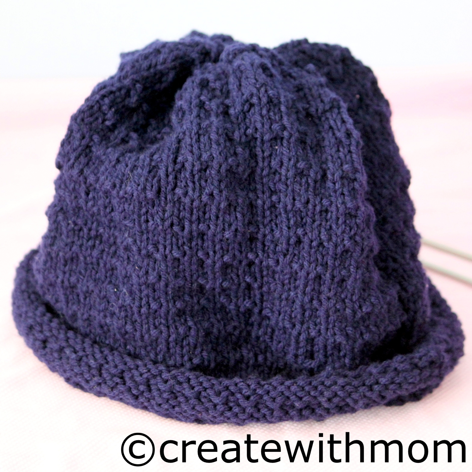 Knitting Patterns Hats On Straight Needles : Create With Mom: Knit hat