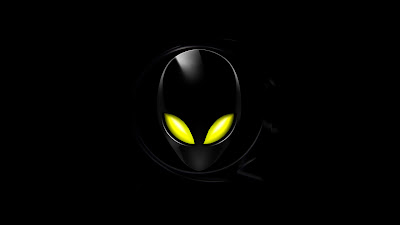 black wallpaper allien