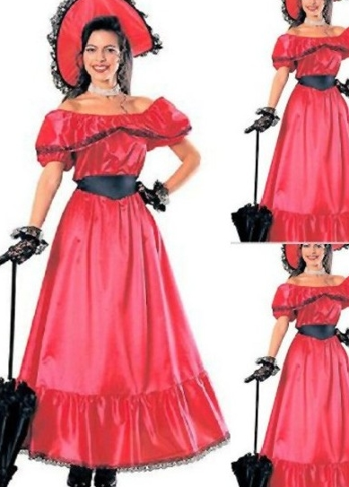 Red Off-the-Shoulder Princess Gothic Victorian Dress