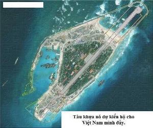 Việt Nam xây đắp mở rộng đảo Trường Sa