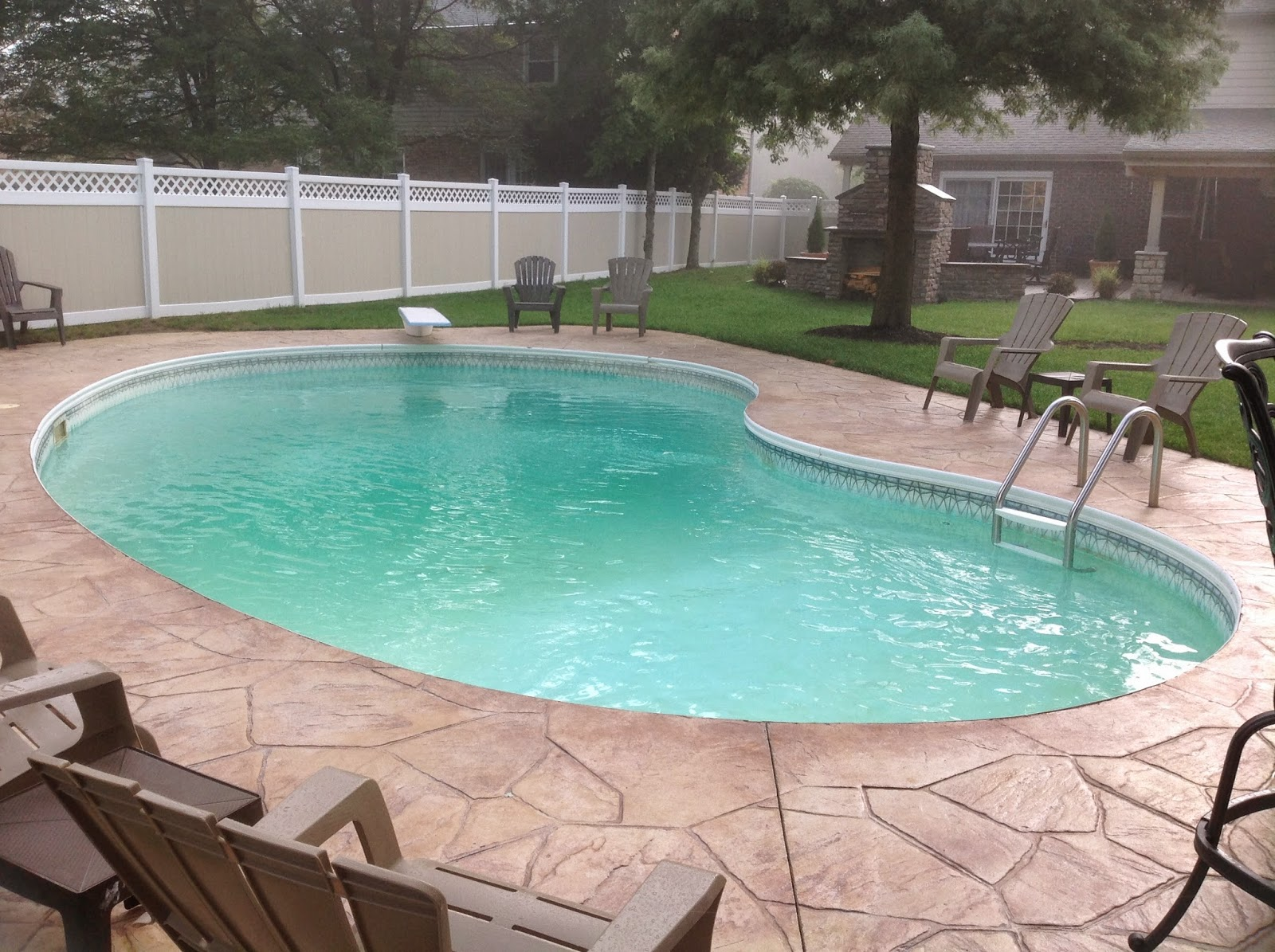 Pool coping supply - Witte pool liner ...