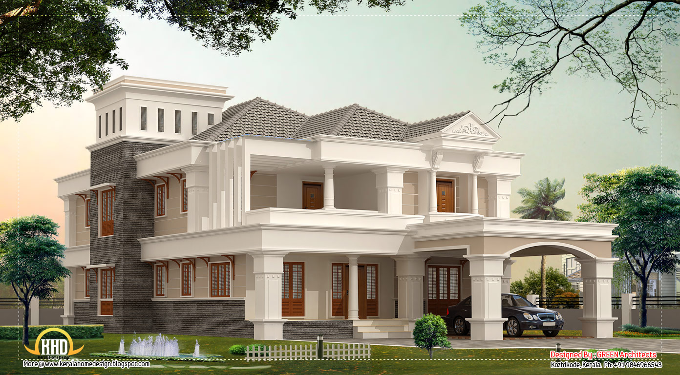 3700 sq ft luxury villa design kerala home design and for Villa plans in kerala