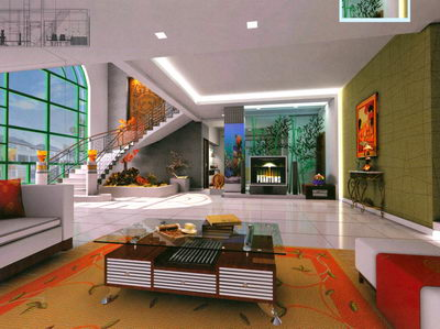 3d view picture 3d room design for Diseno interiores 3d