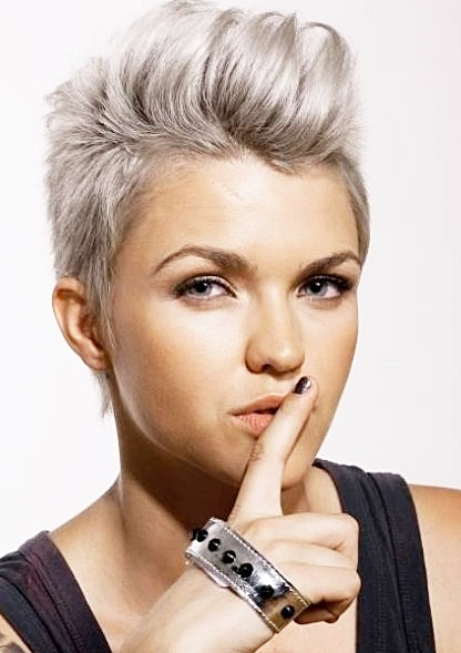 Ruby Rose Pixie Grey Hair