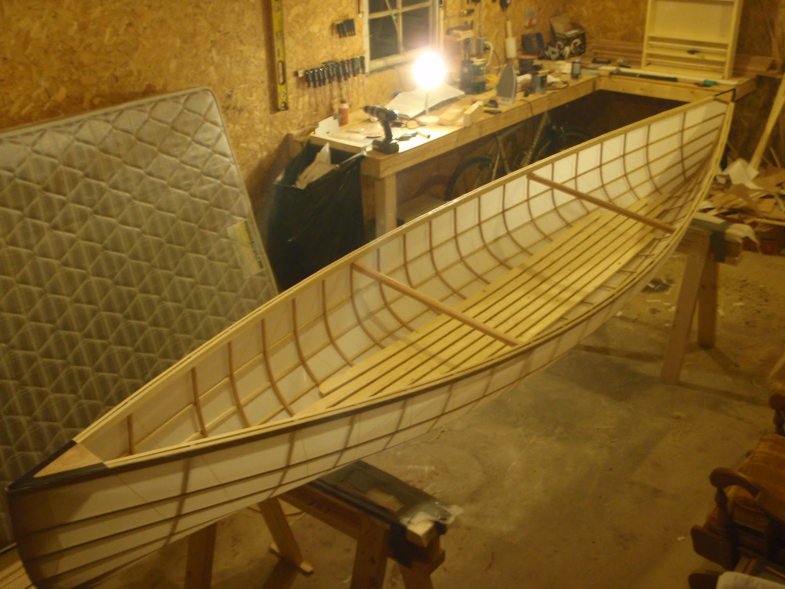 Poplar strip canoe