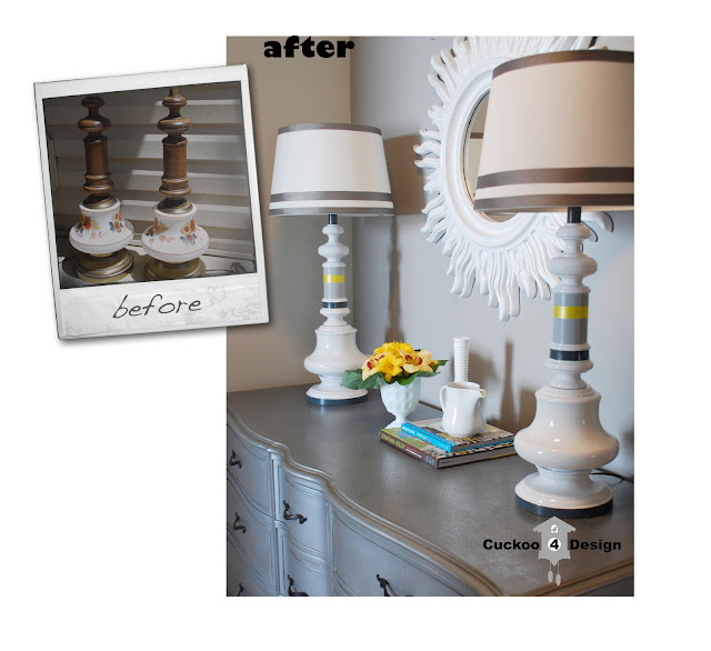 DIY ugly lamp makeover by cuckoo4design