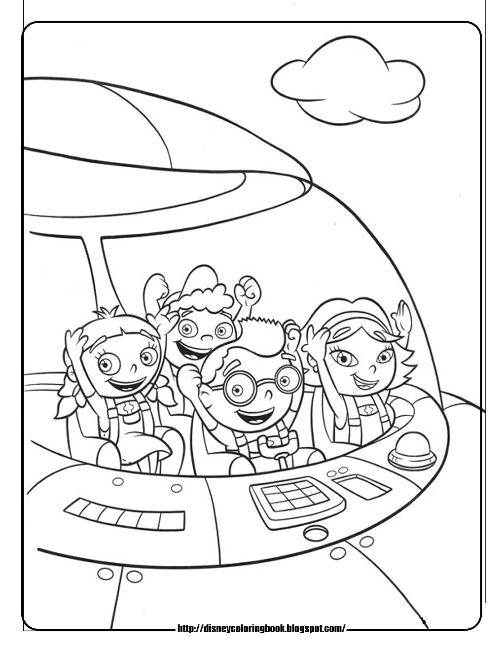 Free coloring pages of disney jr