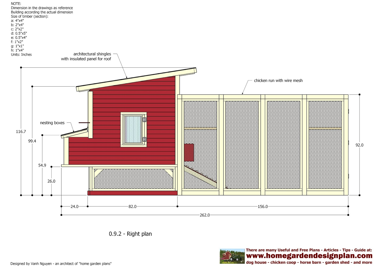 Home garden plans l100 chicken coop plans construction for Small chicken coop blueprints free