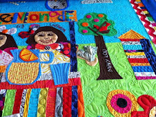Story Quilt Tale-The Lemonade Stand-quilted by Pam Dransfeldt