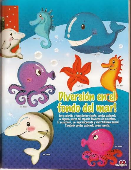 Animales del mar en foami - Imagui