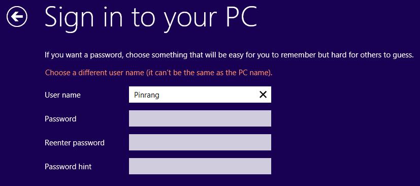 menggunakan password hint windows 8