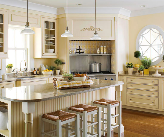 2012 White Kitchen Cabinets Decorating Design Ideas  Modern Furniture
