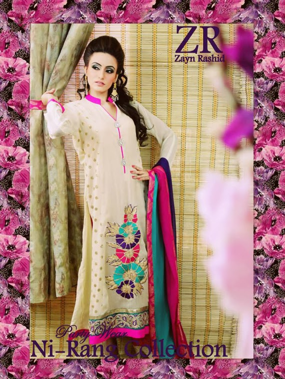 Latest Party Wear Spring 2014 Collection By Zayn Rashid-02