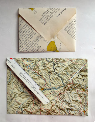 Envelopes made out of recycled paper