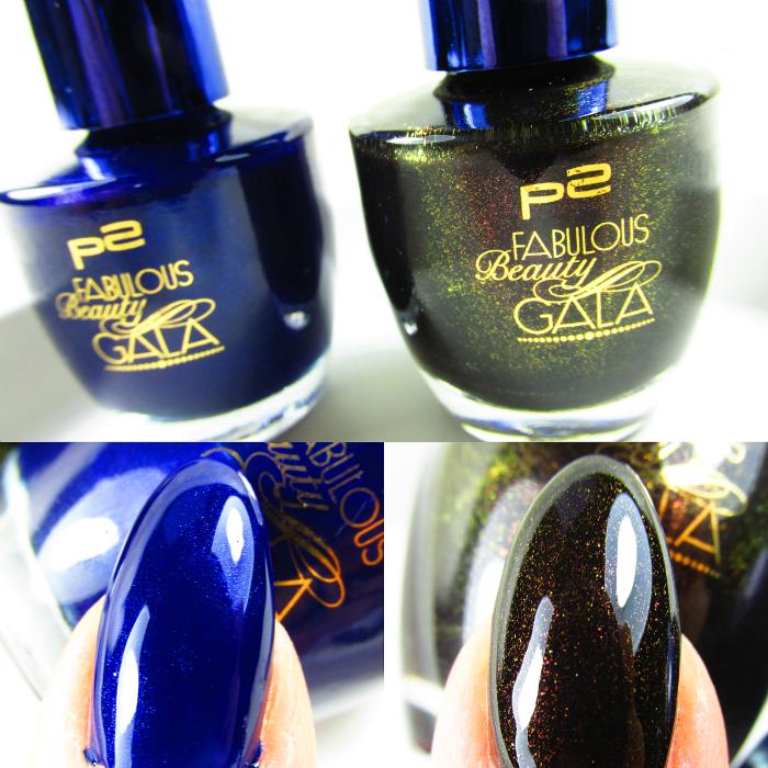p2 Fabulous Beauty Gala Tragebilder : SWEET ADDICTION NAIL POLISH desirable blue und alluring black