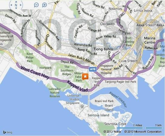 Detail Singapore Cable Car Location Map – Tourist Map Of Singapore City