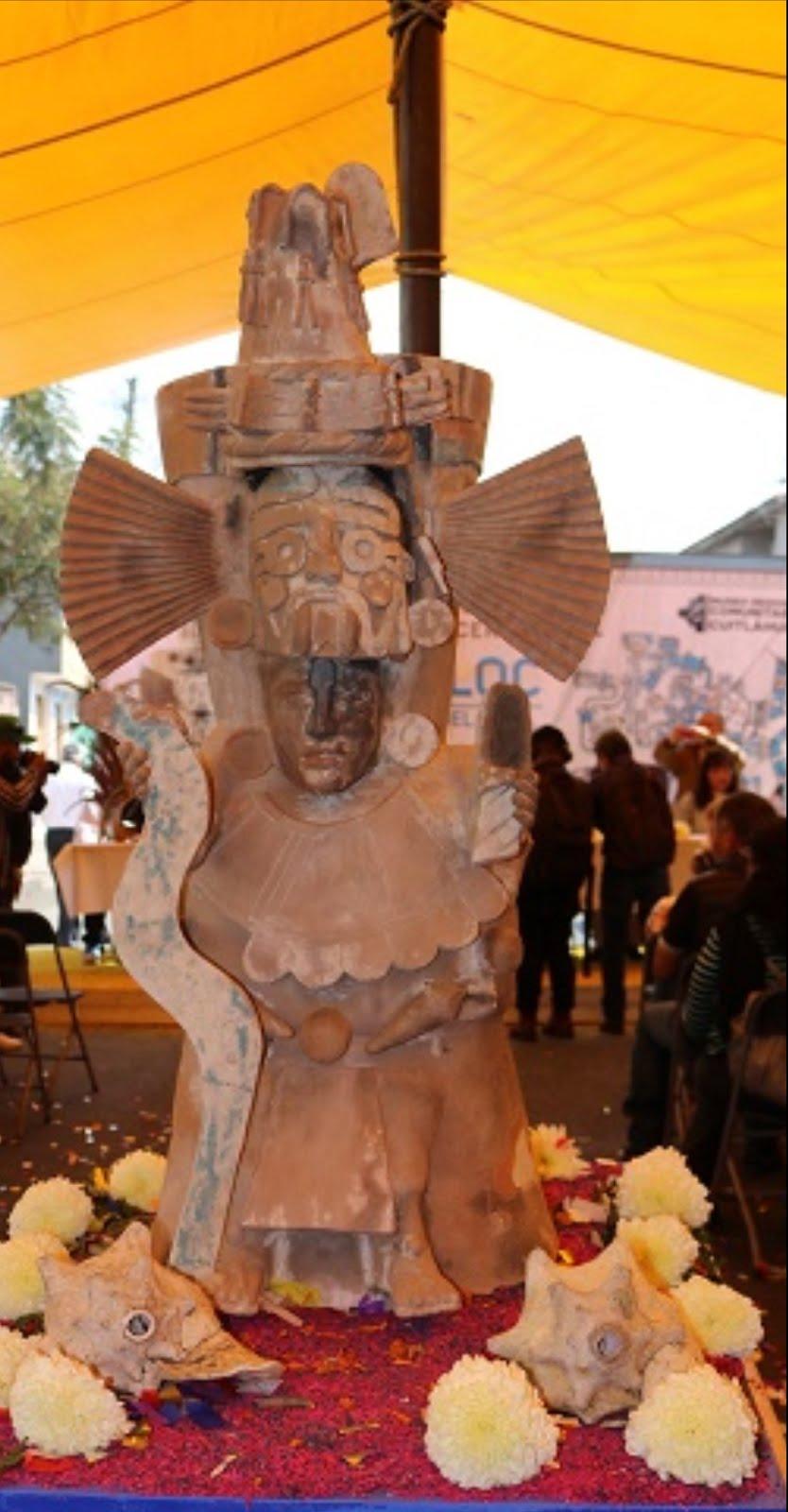 En copia fiel regresó Tláloc, cuarto brasero ceremonial, a Tláhuac