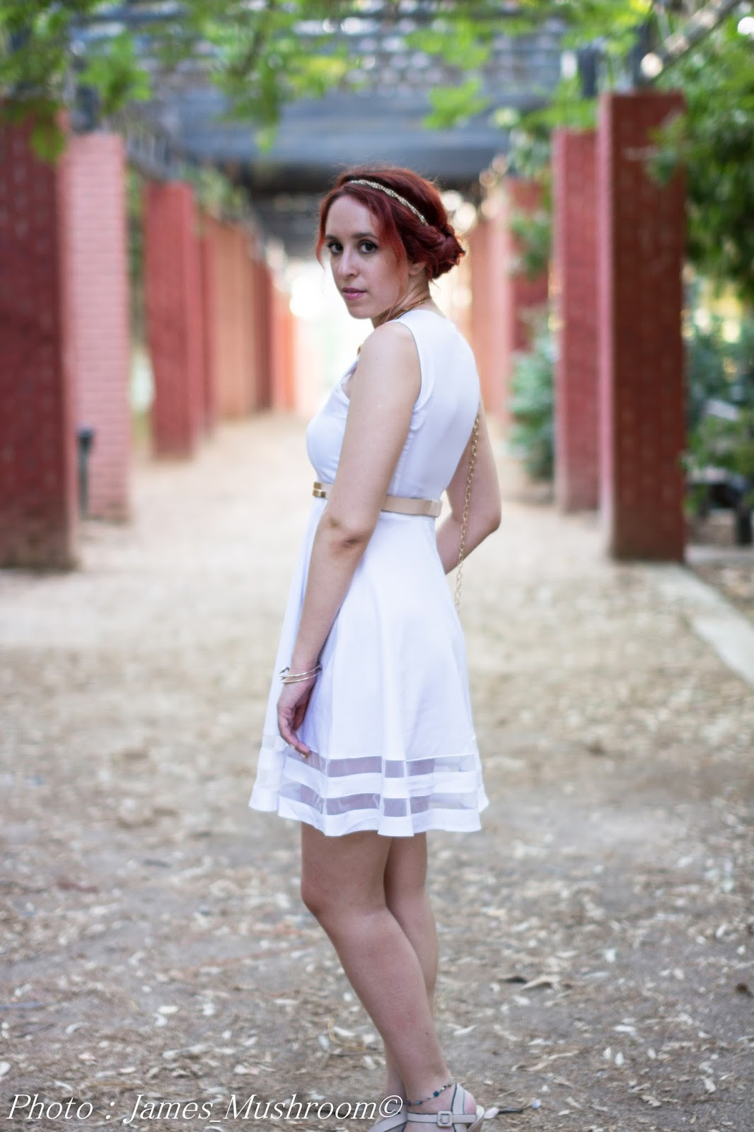 fashion, redhead,hot, sexy, white , dress, romwe, review, dresslink, online shopping, H&M, Anna Keni, Anna, blogger, model, spotlights on the redhead, princess, fuck it, fuck it Im gonna be a princess