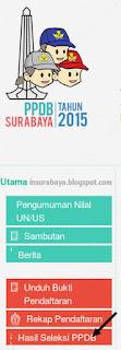 cek hasil seleksi ppdb Surabaya 2015 jalur umum