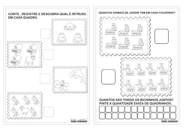 Sugestão de Álbum Animais de Jardim Formato Selo