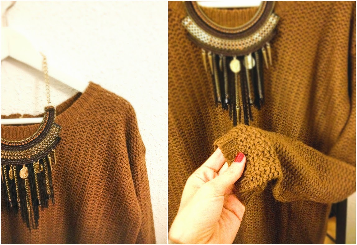 Knit pull stradivarius mulaya necklace collier whats up debs whatsupdebs