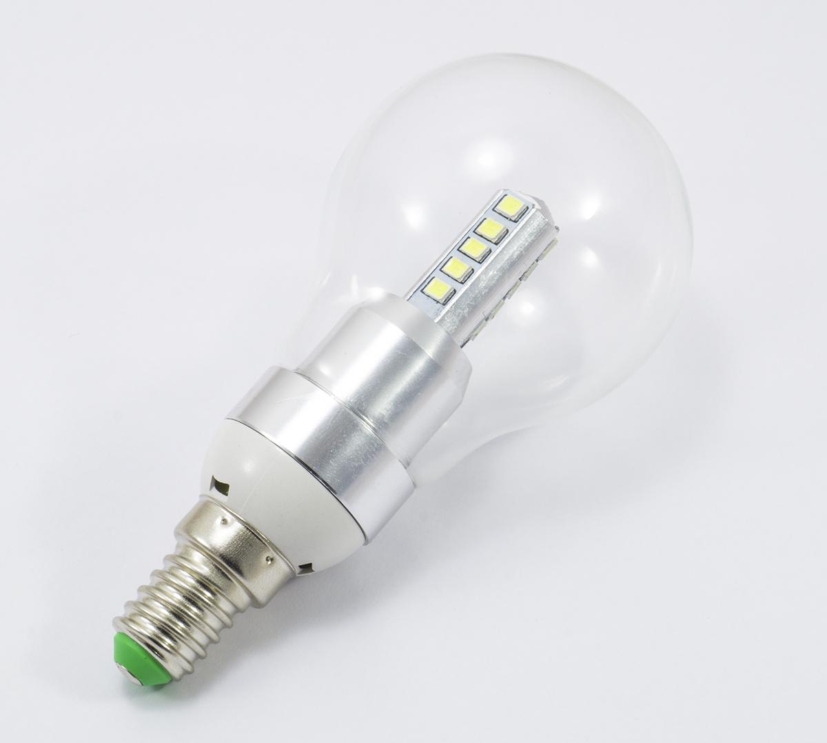 Lampadina lampada led 20 led smd2835 4w watt e14 e27 tonda for Lampada led lunga